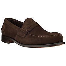 Buy Church's Pembrey Castoro Suede Loafers, Brown Online at johnlewis.com
