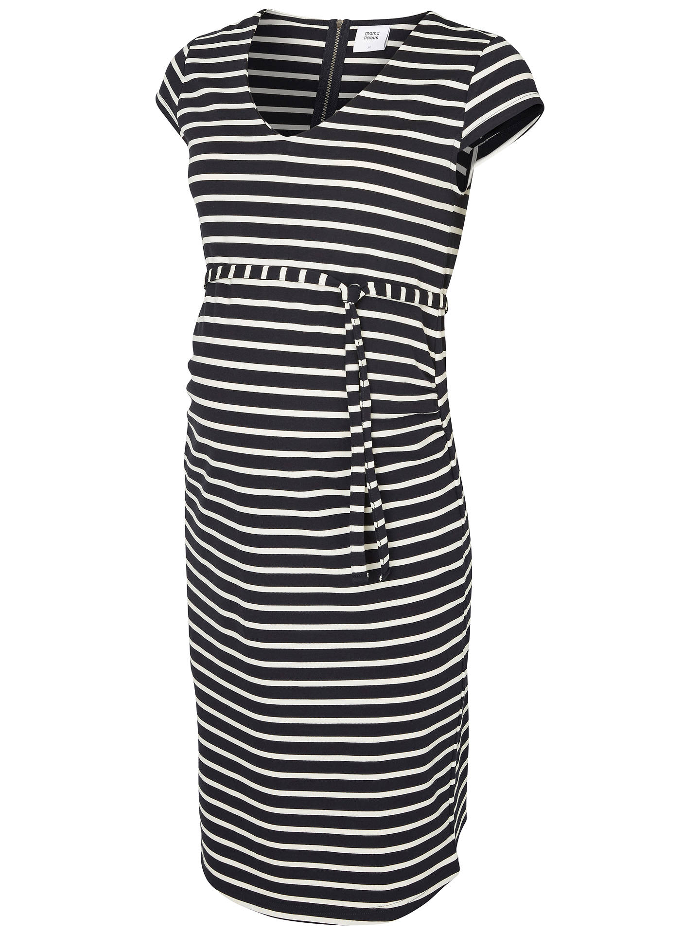 77a6c16b10f2c Buy Mamalicious Striped Maternity Jersey Dress, Navy/White, S Online at  johnlewis.