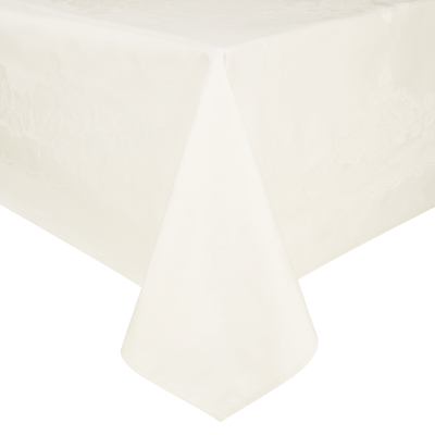 John Lewis & Partners Rose Jacquard Tablecloth, Cream