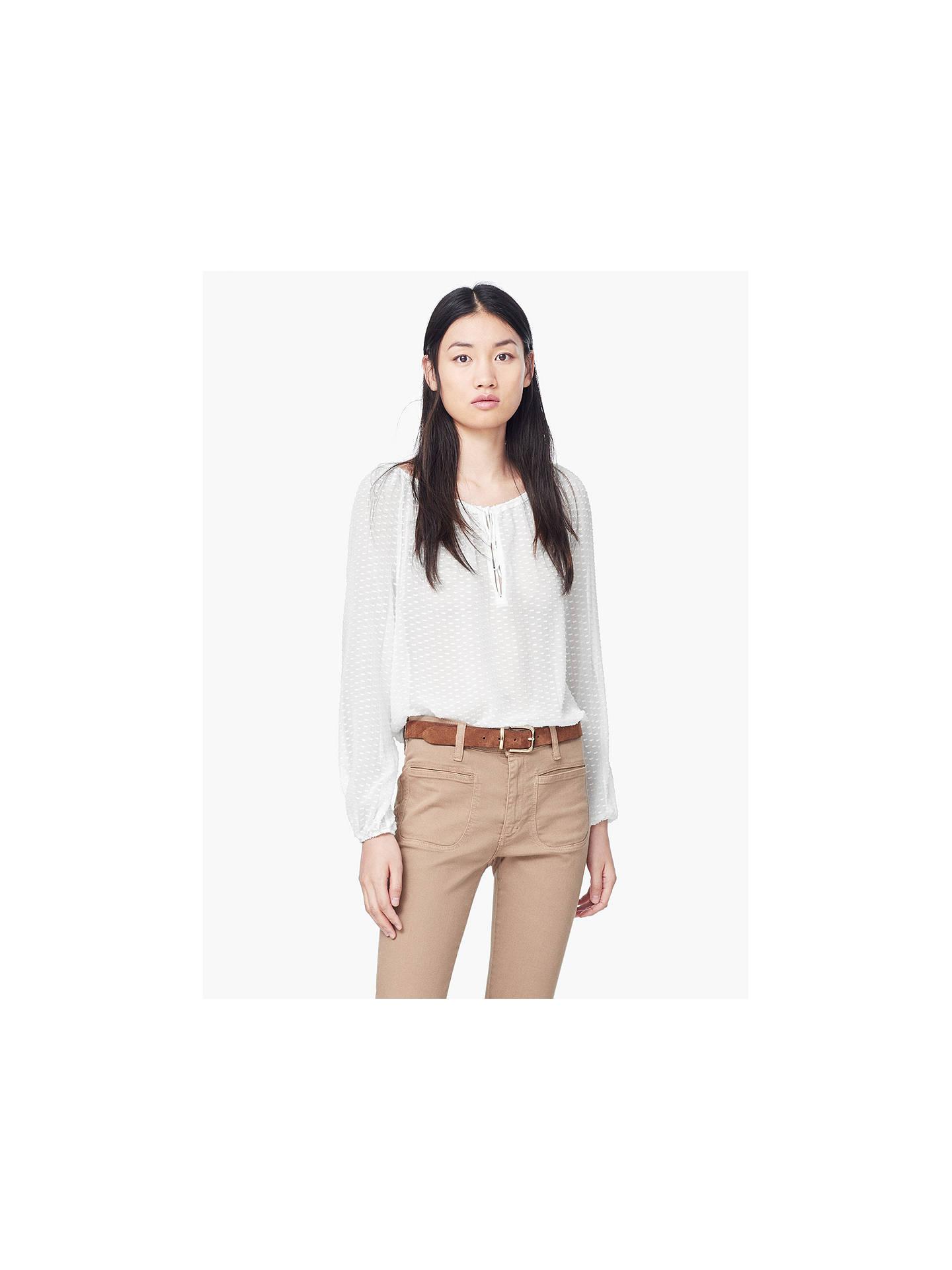 f2db9b04f366c5 ... Buy Mango Plumeti Silk Blouse
