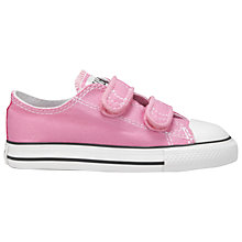 Buy Converse Children's Chuck Taylor All Star Rip-Tape Trainers, Pink Online at johnlewis.com