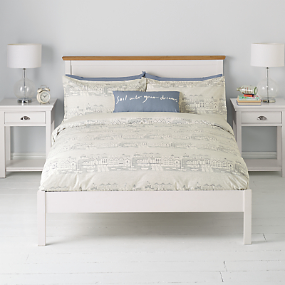 John Lewis Nordic Houses Duvet Cover and Pillowcase Set, Pale Grey