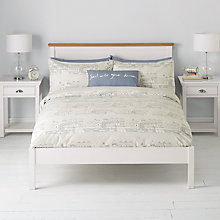 Buy John Lewis Nordic Houses Duvet Cover and Pillowcase Set, Pale Grey Online at johnlewis.com
