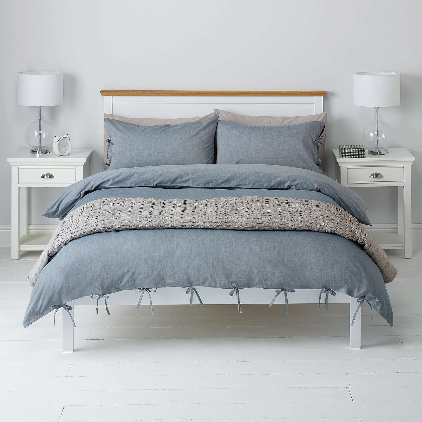 color modern chambray cover home natural feel style casual set duvet bedding look solid washed gray soft amazon queen com cotton relaxed dp wrinkled cool