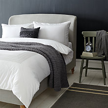 Buy John Lewis Embroidery Insert Cotton Bedding, White Online at johnlewis.com