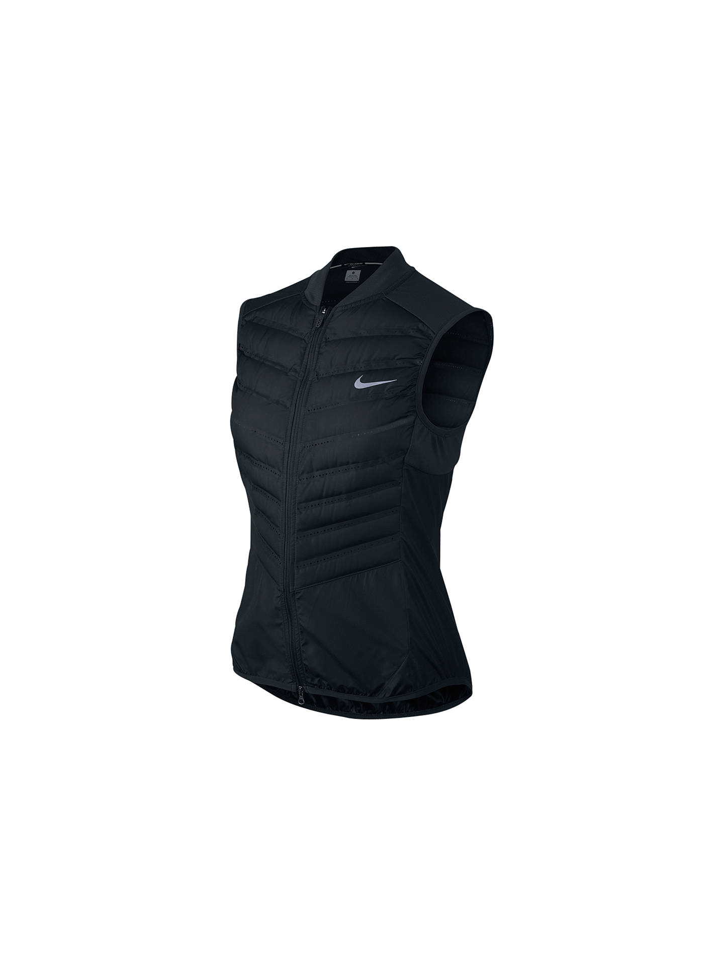 newest 39a0d 420e8 BuyNike Aeroloft 800 Running Gilet, Black, XS Online at johnlewis.com ...