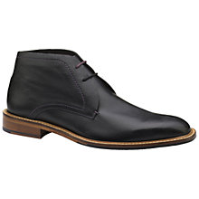 Buy Ted Baker Torsdi 4 Leather Chukka Boots, Black Online at johnlewis.com