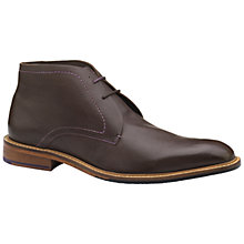 Buy Ted Baker Torsdi 4 Leather Chukka Boots, Brown Online at johnlewis.com