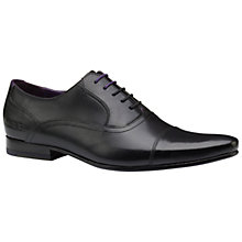 Buy Ted Baker Rogerr2 Oxford Toe Cap Shoes, Black Online at johnlewis.com