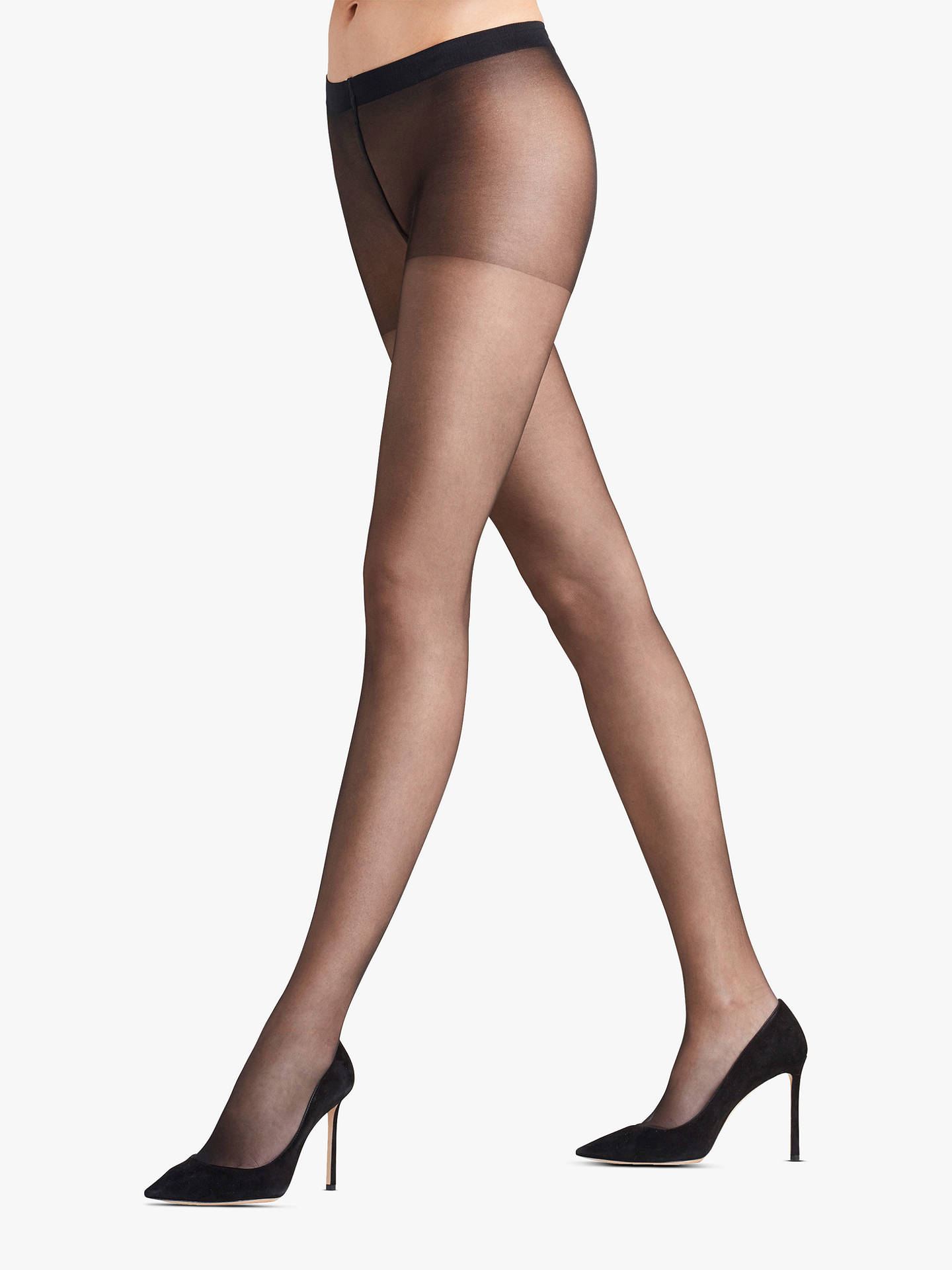cde1d99712cde Buy FALKE 8 Denier Invisible Deluxe Tights, Black, S-M Online at  johnlewis.com ...