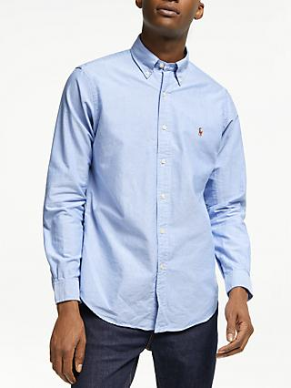 Polo Ralph Lauren Regular Fit Oxford Shirt, Bar Blue