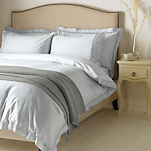 Buy John Lewis Garda Lattice Stitch Egyptian Cotton 400 Thread Count Bedding, Light Blue Online at johnlewis.com