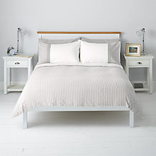 Buy John Lewis Textured Stripe Duvet Cover and Pillowcase Set Online at johnlewis.com