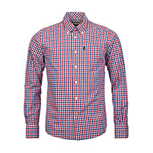 Buy Barbour Bruce Gingham Shirt, Navy Online at johnlewis.com