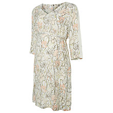 Buy Mamalicious Nomi Floral Print Maternity Dress, Pink/White Online at johnlewis.com