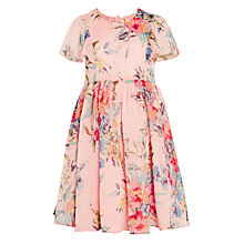 Buy John Lewis Heirloom Collection Girls' Chiffon Floral Print Dress, Pink Online at johnlewis.com