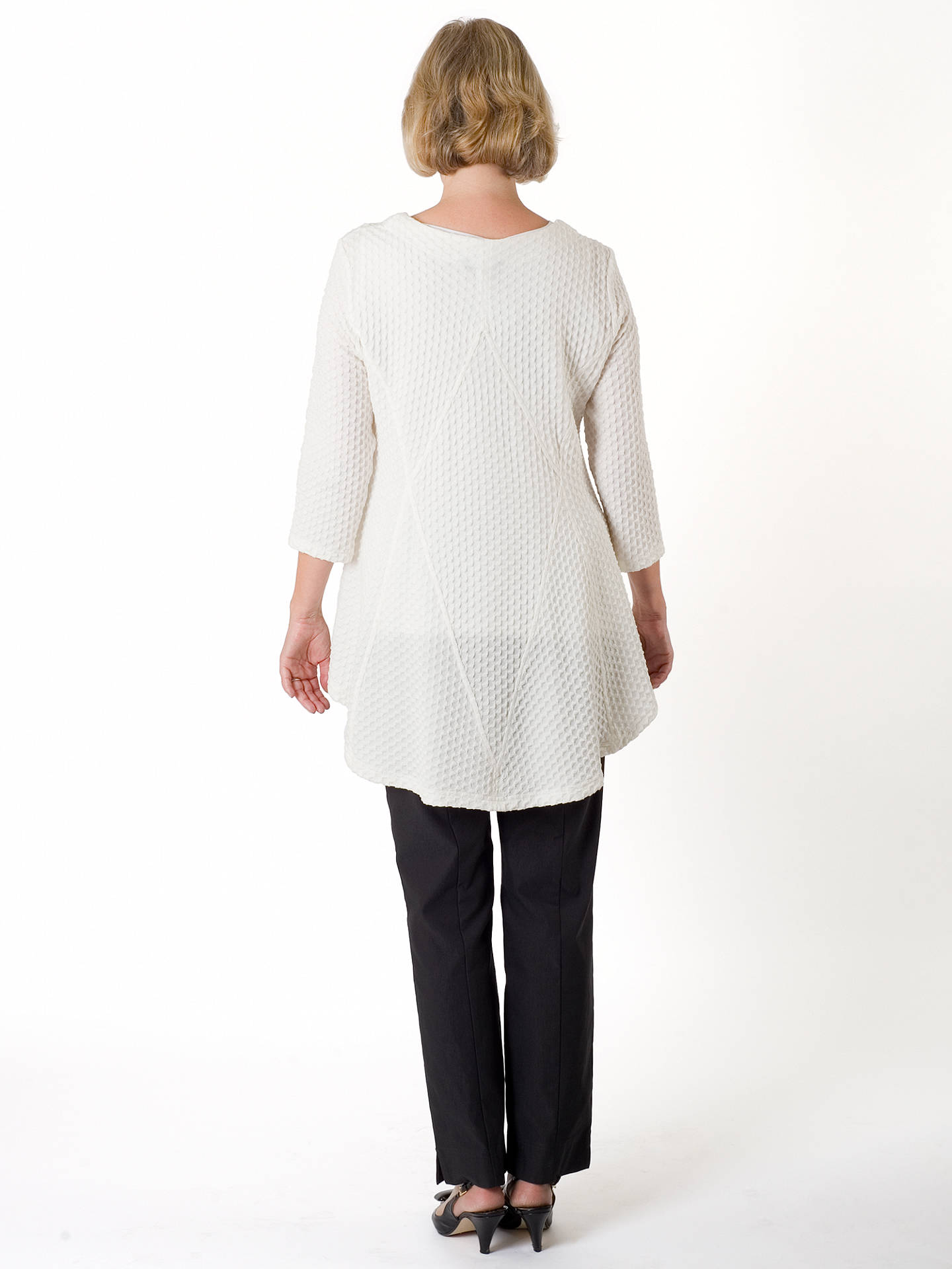BuyChesca Cloque Jacquard Jersey Top, Cream, 12-14 Online at johnlewis.com