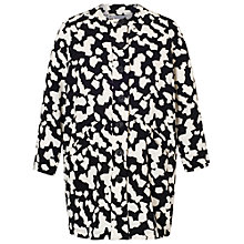 Buy Chesca Jigsaw Coat, Black Ivory Online at johnlewis.com