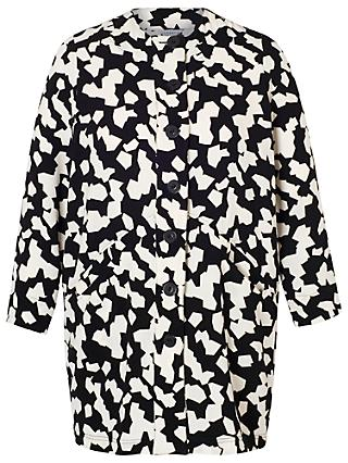 Chesca Jigsaw Coat, Black Ivory