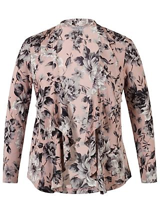 Chesca Rose Print Shrug, Powder Pink