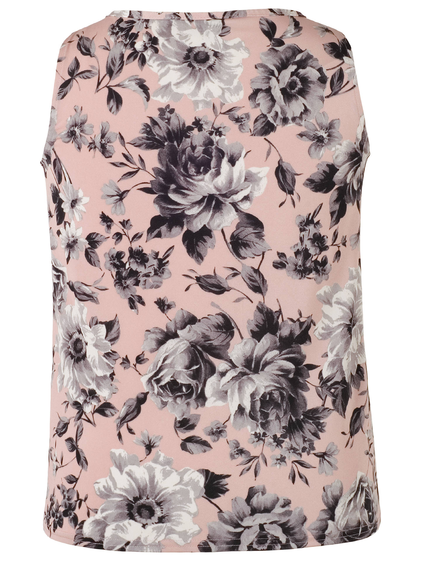 Buy Chesca Rose Print Tuck Top, Powder Pink, 10 Online at johnlewis.com