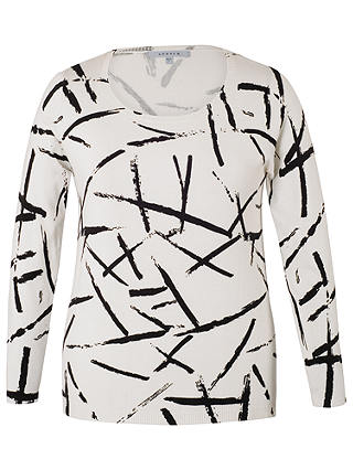 Buy Chesca Brush Strokes Jumper, Ivory/Black, 12-14 Online at johnlewis.com