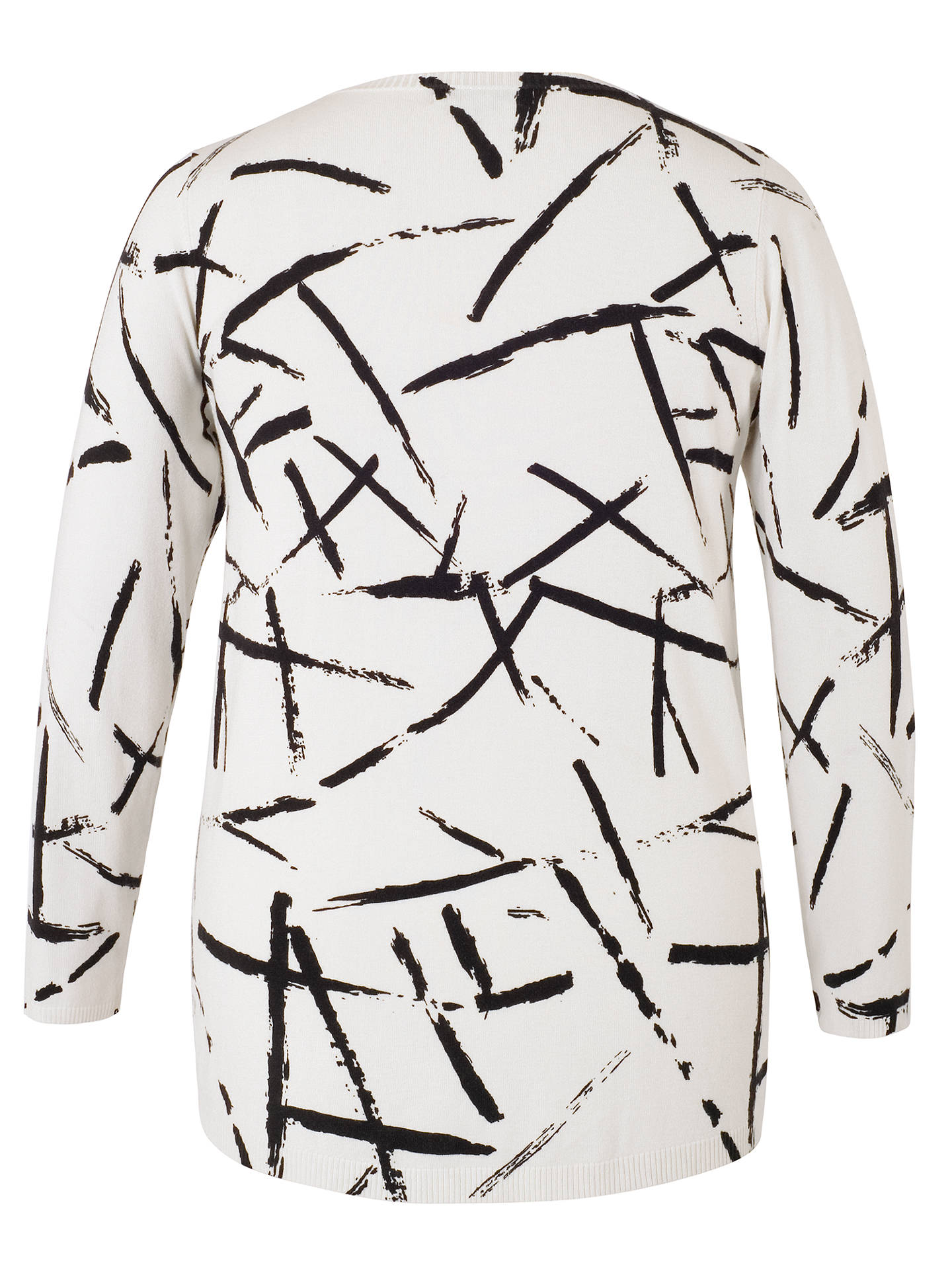 BuyChesca Brush Strokes Jumper, Ivory/Black, 16-18 Online at johnlewis.com