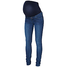 Buy Mamalicious Noos Shelly Slim Fit Maternity Jeans, Denim Blue Online at johnlewis.com