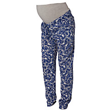 Buy Mamalicious Ellen Printed Maternity Trousers, Blue/White Online at johnlewis.com