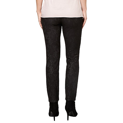 Buy Phase Eight Lace Ponte Jeggings, Black Online at johnlewis.com