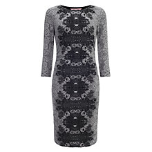 Buy Phase Eight Jacquard Dress, Grey/Ivory Online at johnlewis.com