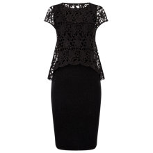 Buy Phase Eight Lexus Lace Knit Dress, Gunmetal Online at johnlewis.com