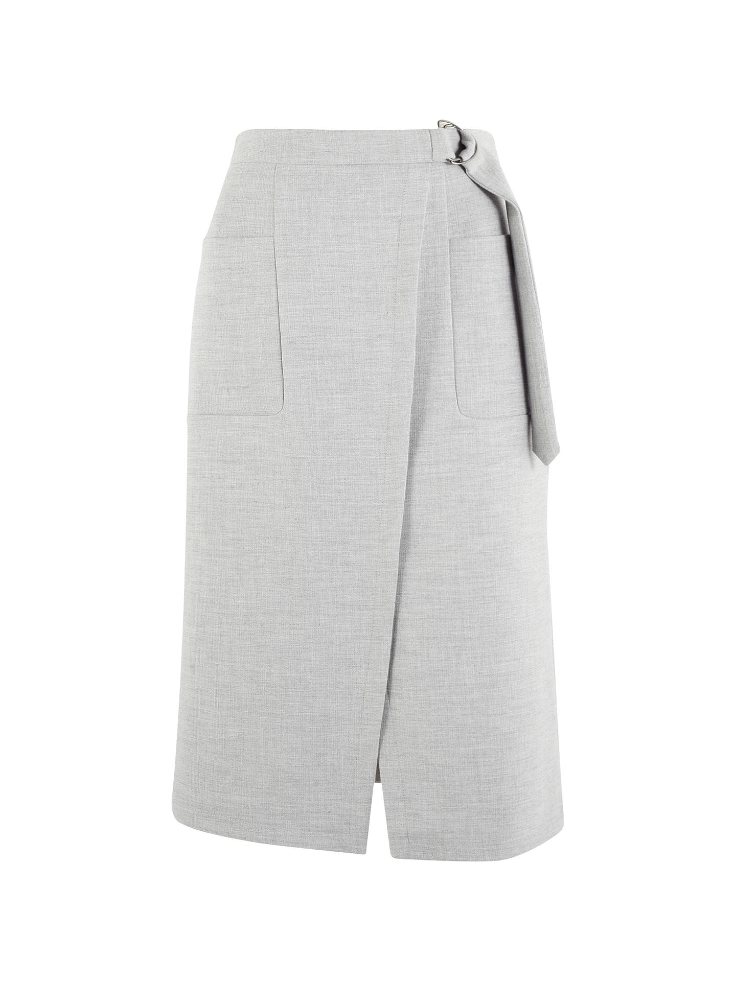 Buy Phase Eight Amber D-Ring Skirt, Grey, 8 Online at johnlewis.com