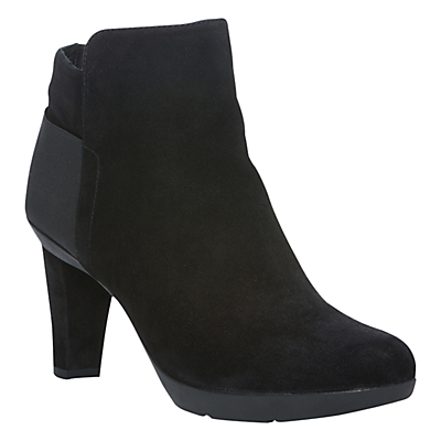 Geox Women's Inspiration A Ankle Boots, Black Suede