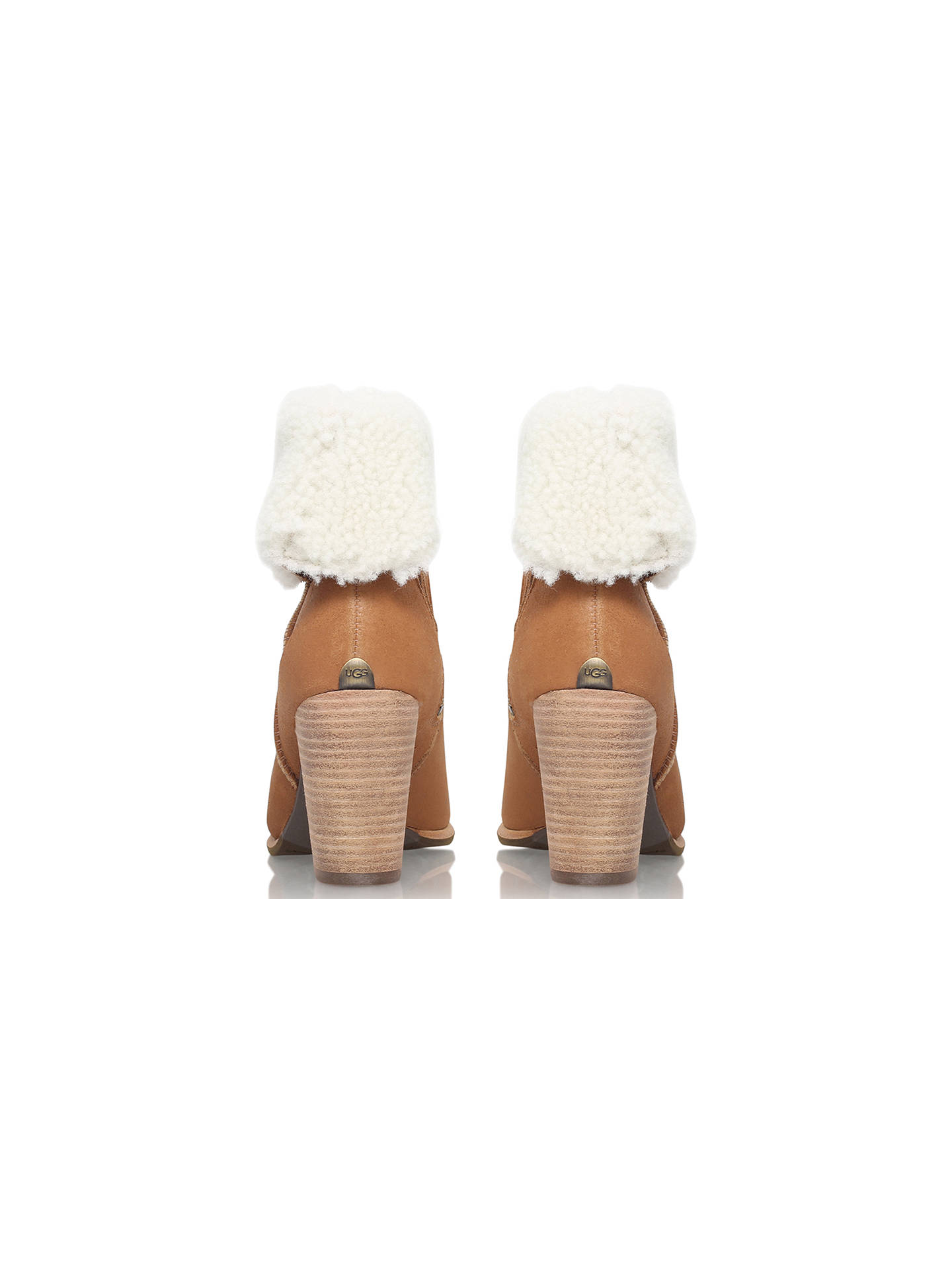 a13e5c40b32 UGG Charlee Block Heeled Ankle Boots at John Lewis & Partners