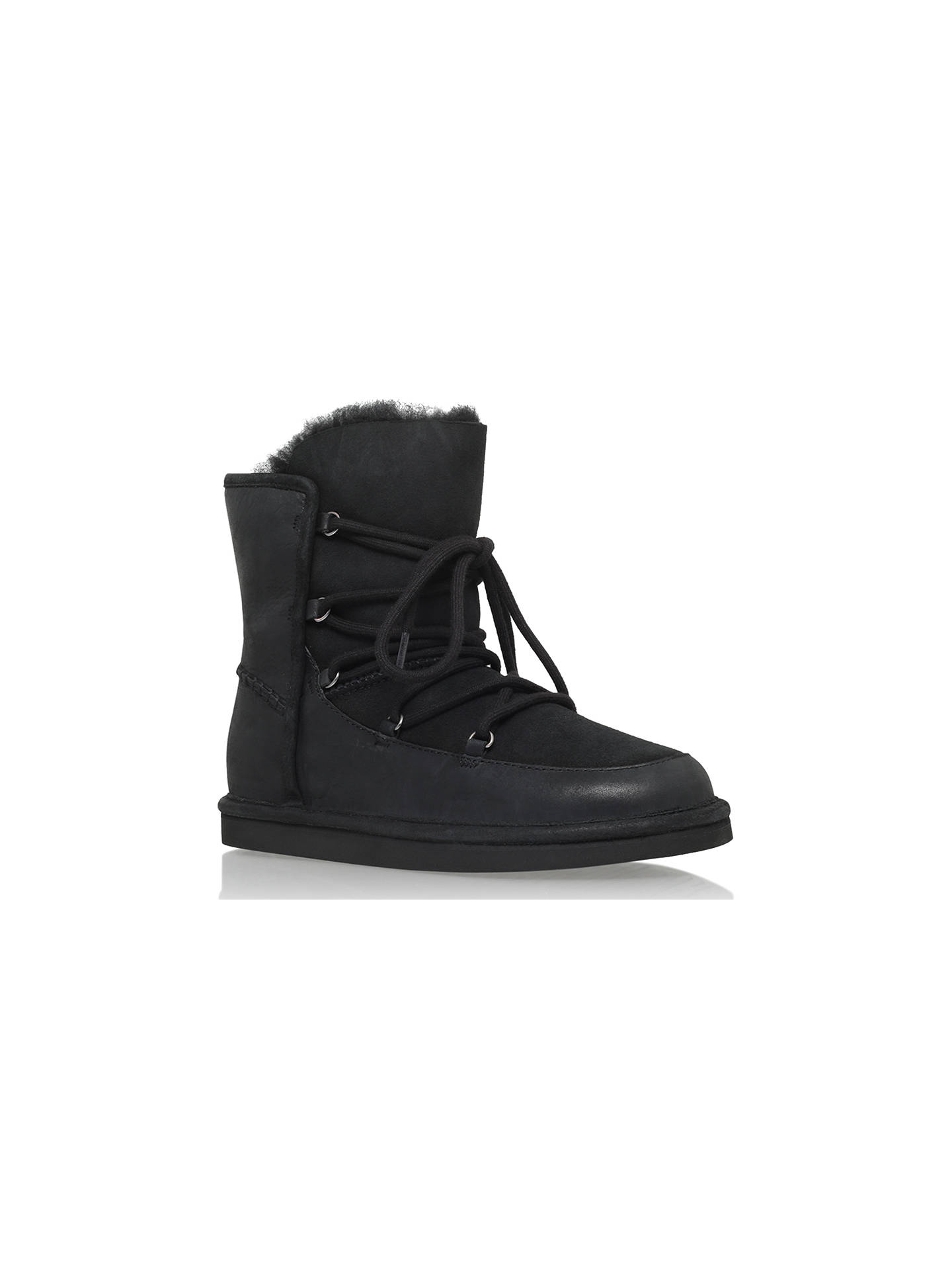 046894edc37 UGG Lodge Lace Up Ankle Boot, Black Leather at John Lewis & Partners