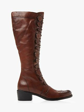 Dune Pixie D Button Detail Knee High Boots