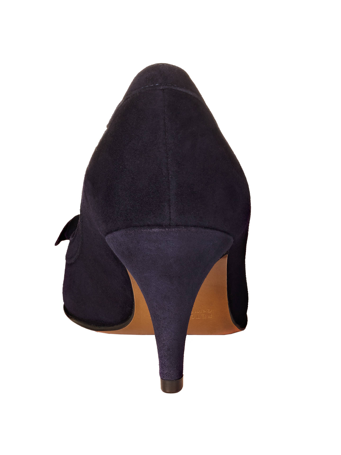Buy Peter Kaiser Satyr 2 Bow Detail Stiletto Court Shoes, Navy Suede, 4 Online at johnlewis.com