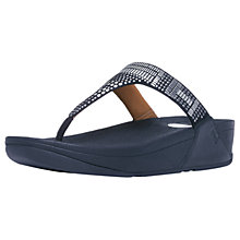 Buy FitFlop Aztek Chada Toe Post Sandals, Super Navy Suede Online at johnlewis.com
