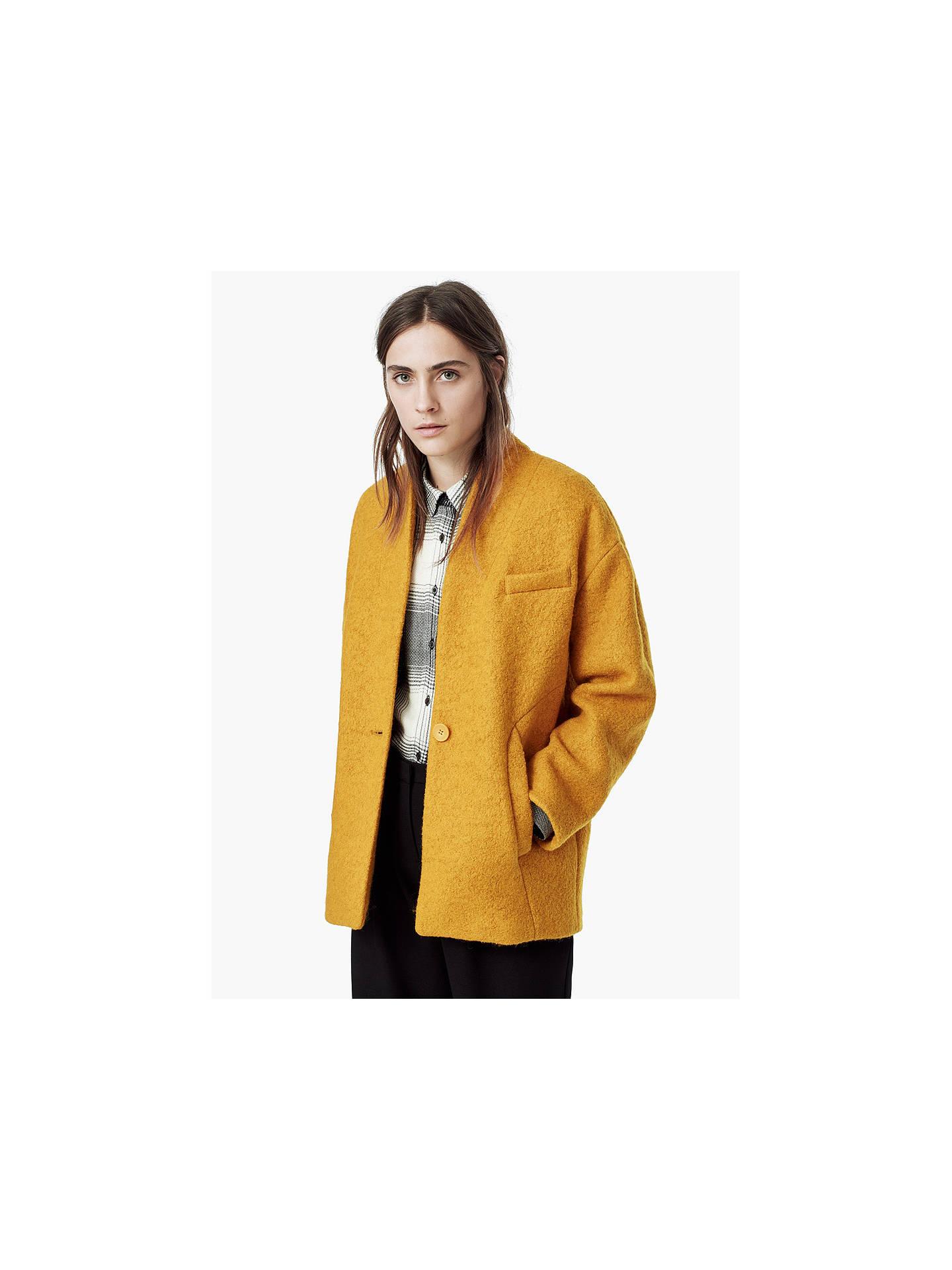 81073a95f7c4 Mango Boucle Wool Blend Cocoon Coat