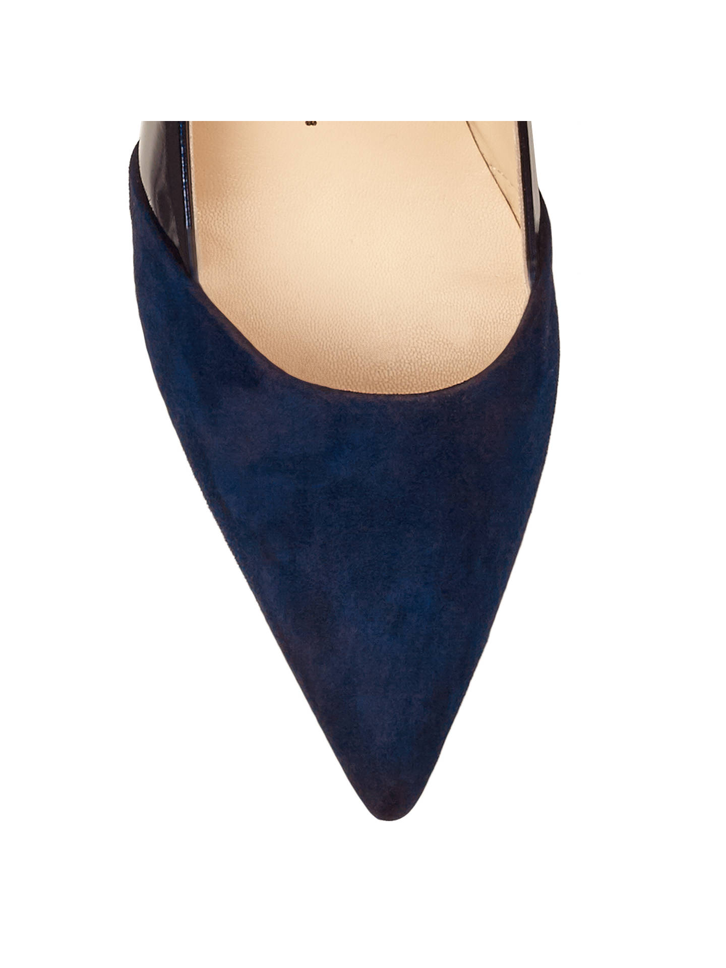19a34a65b6bfb ... Buy Peter Kaiser Semitara Mid Heeled Stiletto Court Shoes, Navy Suede,  4 Online at