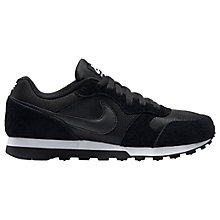 Buy Nike MD Runner 2 Women's Trainers, Black/White Online at johnlewis.com
