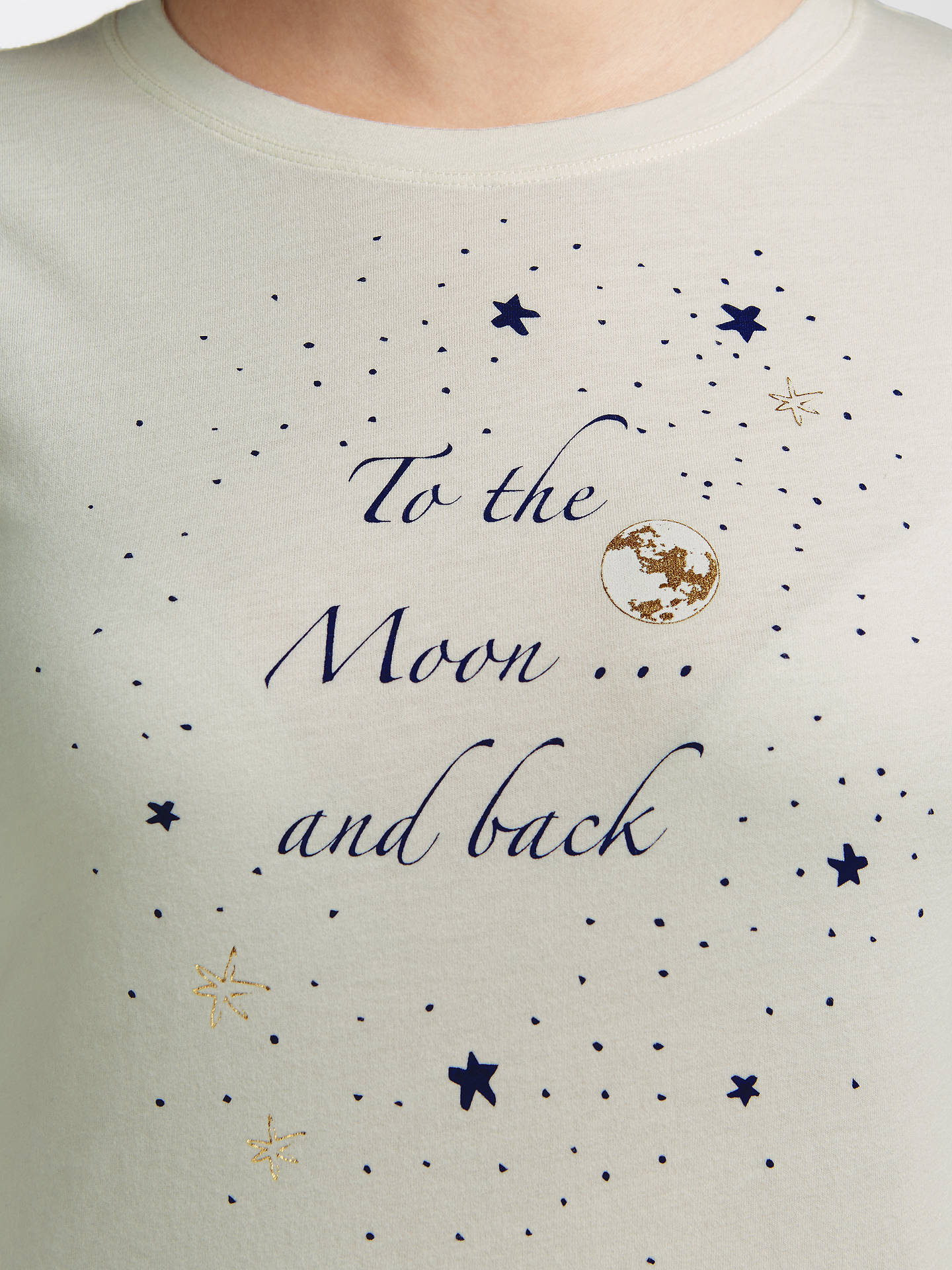 Buy John Lewis To The Moon And Back Pyjama Set, Navy, 8 Online at johnlewis.com