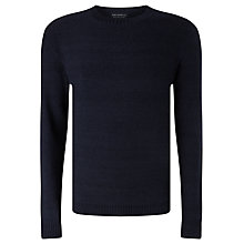 Buy JOHN LEWIS & Co. Cotton Moss Crew Neck Jumper, Indigo Online at johnlewis.com