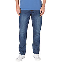 Buy John Lewis Maida Vale Laundered Denim Slim Jeans Online at johnlewis.com