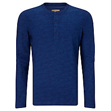 Buy JOHN LEWIS & Co. Slub cotton Grandad Top, New Indigo Online at johnlewis.com