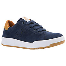 Buy Geox Children's Rolk Lace-Up Shoes, Navy/Brown Online at johnlewis.com