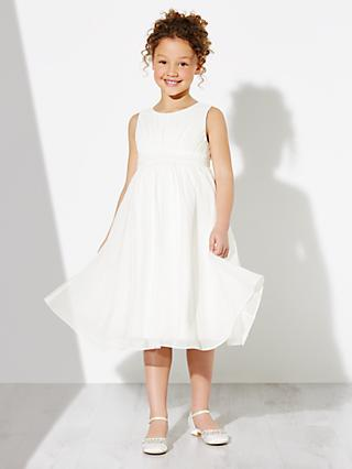 John Lewis & Partners Girls' Ava Beaded Chiffon Bridesmaid Dress, Ivory