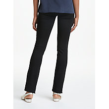 Buy Paige Hoxton Straight Leg Trousers, Black Shadow Online at johnlewis.com