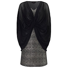 Buy Phase Eight Fabiana Shimmer Dress, Black/Gold Online at johnlewis.com
